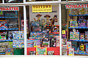 Display specialist toy shop window Woodbridge Suffolk