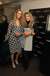 Left to right, MARINA WHITE and ALLEGRA GRUOSI at a lunch hosted by Fawaz Gruosi to celebrate the launch of De Grisogono's latest watch 'Be Eight' held at Nobu, 19 Old Park Lane, London W1 on 30th November 2006.<br /><br />NON EXCLUSIVE - WORLD RIGHTS