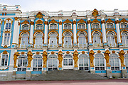 Exterior of The Catherine Palace Pushkin Saint Petersburg Russia