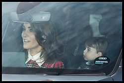December 18, 2019, London, London, United Kingdom: Image licensed to i-Images Picture Agency. 18/12/2019. London, United Kingdom. The Duchess of Cambridge driving at The Queen's Christmas Party at Buckingham Palace in London with Princess Louis in the back seat. (Credit Image: © Stephen Lock/i-Images via ZUMA Press)