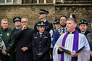 Commissioner of the Metropolitan Police Cressida Dick c attends a memorial service in St Annes Gardens in Soho in London, England, United Kingdom on 30th April 2019. Twenty years since a Neo-Nazi set of a nail bomb at the Admiral Duncan pub a iconic gay venue in Soho killing three people and wounded 79. Four of the survivors had to have limbs amputated.