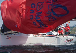 Sailing - SCOTLAND  - 25th-28th May 2018<br /> <br /> The Scottish Series 2018, organised by the  Clyde Cruising Club, <br /> <br /> First days racing on Loch Fyne.<br /> <br /> TBA4, Storm, David Kelly, HYC/RSC,J109<br /> <br /> Credit : Marc Turner<br /> <br /> <br /> Event is supported by Helly Hansen, Luddon, Silvers Marine, Tunnocks, Hempel and Argyll & Bute Council along with Bowmore, The Botanist and The Botanist