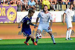 Luka Zahovic of NK Maribor vs. Nino Kouter of NS Mura during football match between NK Maribor and NS Mura in 2nd Round of Prva liga Telekom Slovenije 2018/19, on July 29, 2018 in Ljudski vrt, Maribor, Slovenia. Photo by Mario Horvat / Sportida