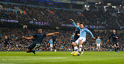 MANCHESTER, ENGLAND - Wednesday, January 1, 2020: Manchester City's Gabriel Jesus scores his second goal during the FA Premier League match between Manchester City FC and Everton FC at the City of Manchester Stadium. Manchester City won 2-1. (Pic by David Rawcliffe/Propaganda)