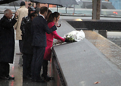 Duke Of Cambridge and Duchess Of Cambridge are arriving and pausing for reflection in The Memorial Plaza at The World Trade Center in New York City, NY, USA, on December 9, 2014. Photo by Charles Guerin-Morgan Dessalles/ABACAPRESS.COM    479336_007 New York City Etats-Unis United States
