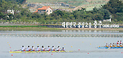 Chungju, South Korea.  Final Women's Eights, ITA W8+2013 FISA World Rowing Championships, Tangeum Lake International Regatta Course.15:53:23  Sunday  01/09/2013 [Mandatory Credit. Peter Spurrier/Intersport Images]<br /> <br /> 1USA W8+. Bow. Amanda POLK (b) , Kerry SIMMONDS (2) , Emily REGAN (3) , Lauren SCHMETTERLING (4) , Grace LUCZAK (5) , Meghan MUSNICKI (6) , Victoria OPITZ (7) , Caroline LIND (s) , Katelin SNYDER<br /> <br /> 2ROU W8+. Bow. Cristina ILIE (b) , Ionelia ZAHARIA (2) , Cristina GRIGORAS (3) , Ioana CRACIUN (4) , Camelia LUPASCU (5) , Andreea BOGHIAN (6) , Roxana COGIANU (7) , Nicoleta ALBU (s) , Daniela DRUNCEA.<br /> <br /> 3CANW8+. Bow. Lisa ROMAN (b) , Jennifer MARTINS (2) , Carolyn GANES (3) , Susanne GRAINGER (4) , Sarah BLACK (5) , Christine ROPER (6) , Natalie MASTRACCI (7) , Cristy NURSE (s) , Kristen KIT.<br /> <br /> 4.     GBRW8+. Melanie WILSON (b) , Caragh MCMURTRY (2) , Louisa REEVE (3) , Beth RODFORD (4) , Jessica EDDIE (5) , Zoe LEE (6) , Katie GREVES (7) , Olivia CARNEGIE-BROWN (s) , Zoe DE TOLEDO. <br /> <br /> 5AUSW8+. Bow. Hannah VERMEERSCH (b) , Renee CHATTERTON (2) , Peta WHITE (3) , Katrina BATEMAN (4) , Tess GERRAND (5) , Alexandra HAGAN (6) , Charlotte SUTHERLAND (7) , Lucy STEPHAN (s) , Elizabeth PATRICK.<br /> <br /> 6NED W8+. Bow. Marleen VERBURGH (b) , Kyra DE VRIES (2) , Aletta JORRITSMA (3) , Janneke VAN DER MEULEN (4) , Kirsten WIELAARD (5) , Dominique Van der PAUW (6) , Rosa BAS (7) , Heleen BOERS (s) , Jonna DE VRIES (c)