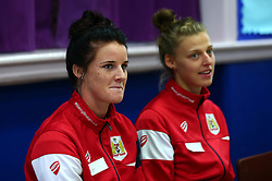 Bristol Sport and Bristol Energy launch their partnership at Millpond School with help from Jas Matthews and Yana Daniels of Bristol City Women - Mandatory by-line: Robbie Stephenson/JMP - 09/10/2017 - SPORT - Millpond School - Bristol, England - Bristol Sport and Bristol Energy Partnership Launch