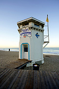 Laguna Beach Lifeguard Tower at Main Beach at Sunrise