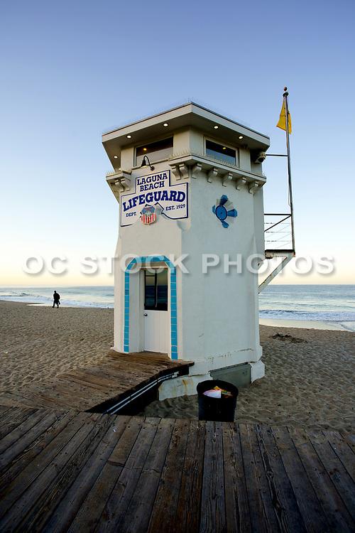 Laguna Beach Lifeguard Tower at Main Beach at Sunrise
