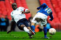 Photo: Alan Crowhurst.<br />England U21 v Italy U21. International Friendly. 24/03/2007. England's Nigel Reo-Coker (L) takes the ball from Alessandro Rosina.