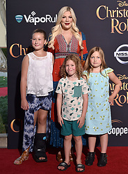 "Premiere of Disney's ""Christopher Robin"". Walt Disney Studios, Los Angeles, California. Pictured: Alison Sweeney and daughter Megan Sanov. EVENT July 30, 2018. 30 Jul 2018 Pictured: Tori Spelling,Stella Doreen McDermott,Finn Davey McDermott,Hattie Margaret McDermott. Photo credit: AXELLE/BAUER-GRIFFIN/MEGA TheMegaAgency.com +1 888 505 6342"