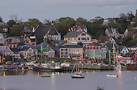 Lunenburg waterfront at dusk, Nova Scotia