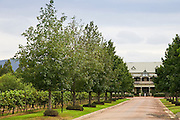Peppers Convent hotel at Pepper Tree Winery, Pokolbin, Hunter Valley, Australia where Shiraz and Cabernet Sauvignon grapes are grown