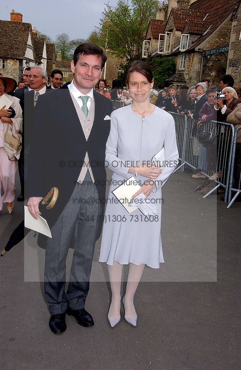 LADY SARAH CHATTO daughter of the late Princess Margaret and her husband MR DANIEL CHATTOat the wedding of Laura Parker Bowles to Harry Lopes held at Lacock, Wiltshire on 6th May 2006.<br /><br />NON EXCLUSIVE - WORLD RIGHTS
