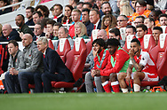 Arsenal's Theo Walcott looks on dejected after being substituted during the Premier League match at the Emirates Stadium, London. Picture date: April 2nd, 2017. Pic credit should read: David Klein/Sportimage