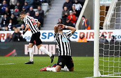 Newcastle United's Ayoze Perez rues a missed chance during the Premier League match at St James' Park, Newcastle.
