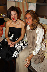 Left to right, NORI STARCK and SARA CARRELLO at a jewellery party hosted by Osanna Visconti and Pia Marocco at Allegra Hick's shop, 28 Cadogan Place, London on 25th November 2004.<br />