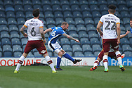 GOAL Matty Done scores for Rochdale 1-0 during the EFL Sky Bet League 1 match between Rochdale and Bradford City at Spotland, Rochdale, England on 21 April 2018. Picture by Daniel Youngs.