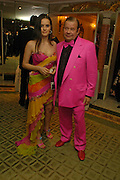 Marina Buldoumac and David West. War and Peace charity Ball, Dorchester Hotel. Park Lane. London. 17 February 2005. ONE TIME USE ONLY - DO NOT ARCHIVE  © Copyright Photograph by Dafydd Jones 66 Stockwell Park Rd. London SW9 0DA Tel 020 7733 0108 www.dafjones.com
