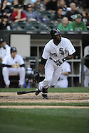 CHICAGO - SEPTEMBER 10:  Alejandro De Aza #30 of the Chicago White Sox bats against the Cleveland Indians on September 10, 2011 at U.S. Cellular Field in Chicago, Illinois.  The White Sox defeated the Indians 7-3.  (Photo by Ron Vesely)   Subject: Alejandro De Aza