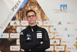 Luka Fonda at press conference of Slovenian National Climbing team before new season, on March 23, 2021 in Bolder Scena, Ljubljana, Slovenia. Photo by Vid Ponikvar / Sportida