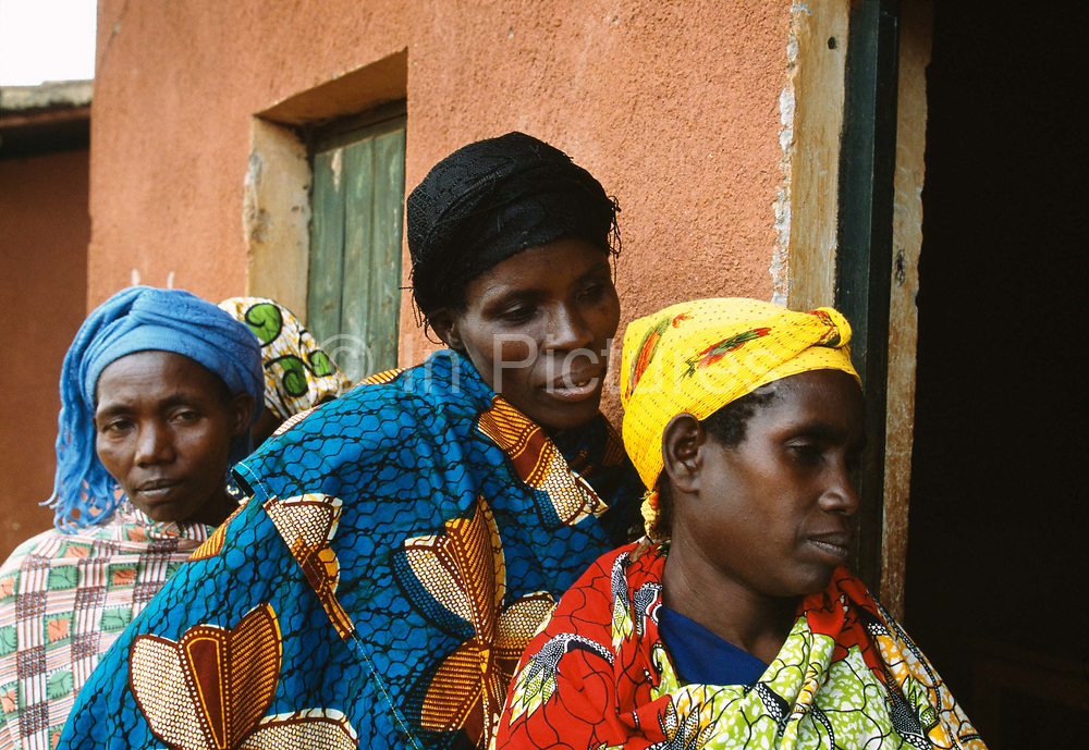 Woman queue for ther HIV test, Kibayi Health Centre. Kibileze, Rwanda.