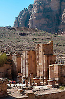 The Colonnaded Street at Petra archaeological site (a UNESCO World Heritage site), Jordan.