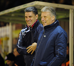 Bristol Rovers Manager, John Ward and Crawley Town, John Gregory - Photo mandatory by-line: Seb Daly/JMP - Tel: Mobile: 07966 386802 08/01/2014 - SPORT - FOOTBALL - Broadfield Stadium - Crawley - Crawley Town v Bristol Rovers - FA Cup - Replay