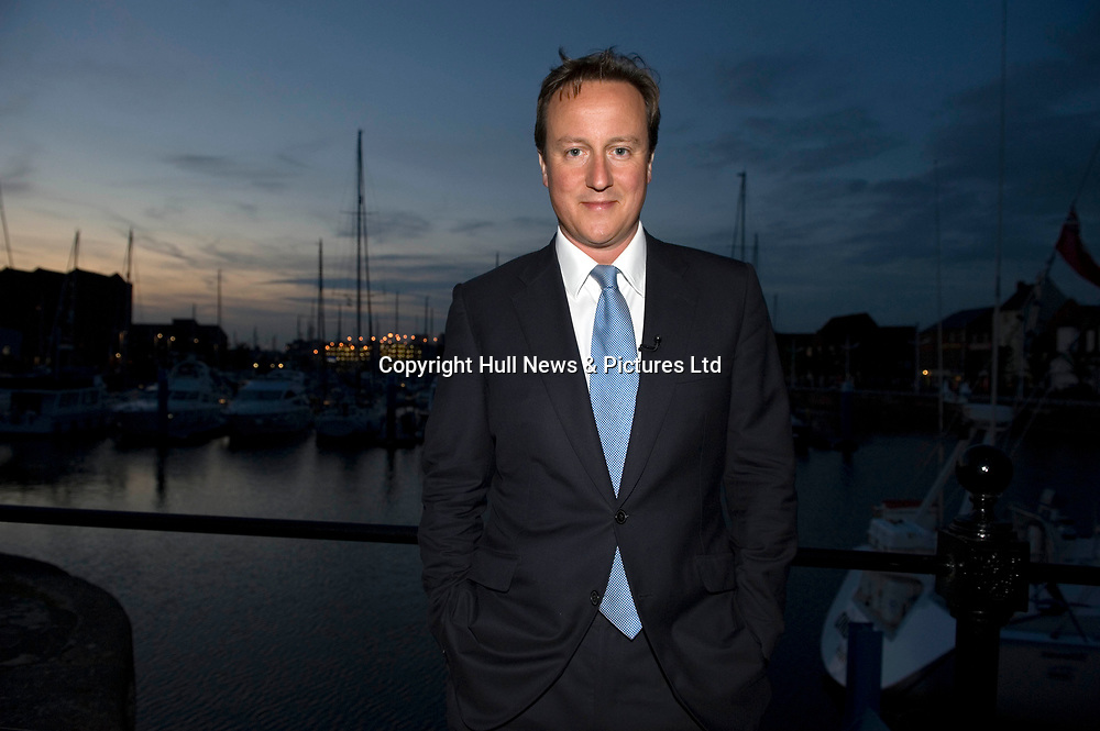 18 August 2009: Davide Cameron who visited Hull, East Yorkshire this evening where he met two police officers who have recently received a bravery award for a rescue at Hull Marina. Mr Cameron was also due to accompany police around the city centre from 10pm tonight..Picture:Sean Spencer/Hull News & Pictures 01482 210267/07976 433960.High resolution picture library at http://www.hullnews.co.uk.©Sean Spencer/Hull News & Pictures Ltd.