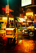 Blurred image of streets in the French Quarter, New Orleans, Louisiana,  USA 1989