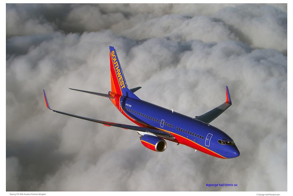 Boeing 737 in flight