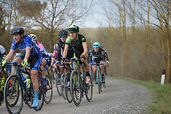 Dani King (Cylance) at Strade Bianche - Elite Women. A 127 km road race on March 4th 2017, starting and finishing in Siena, Italy. (Photo by Sean Robinson/Velofocus)