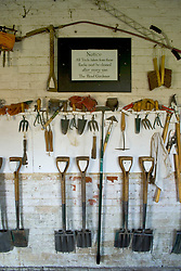 Tools in the potting shed at Audley End