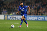 Liam Feeney of Cardiff City in action. EFL Skybet championship match, Cardiff city v Leeds Utd at the Cardiff city stadium in Cardiff, South Wales on Tuesday 26th September 2017.<br /> pic by Andrew Orchard, Andrew Orchard sports photography.