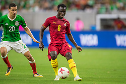 June 28, 2017: Ghana midfielder Mohammed Abu (6) controls the ball in front of Mexico midfielder Jesus Duenas (20) during the 2nd half of an international soccer friendly match between Mexico and Ghana at NRG Stadium in Houston, TX. Mexico won the game 1-0...Trask Smith/CSM(Credit Image: © Trask Smith/CSM via ZUMA Wire)