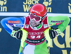 29.12.2016, Deborah Compagnoni Rennstrecke, Santa Caterina, ITA, FIS Ski Weltcup, Santa Caterina, alpine Kombination, Herren, Slalom, im Bild Martin Cater (SLO) // Martin Cater of Slovenia reacts after his run of Slalom competition for the men's Alpine combination of FIS Ski Alpine World Cup at the Deborah Compagnoni race course in Santa Caterina, Italy on 2016/12/29. EXPA Pictures © 2016, PhotoCredit: EXPA/ Johann Groder