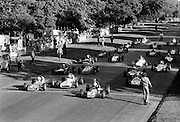 Competitors on the starting grid at the Shellsport Formula Ford Final in the Phoenix Park. The trophy was won by Belfast driver Trevor Templeton.<br /> 18/09/1977