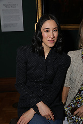 Eva Chen on the front row during the Erdem Autumn/Winter 2019 London Fashion Week show at The National Portrait Gallery, London.