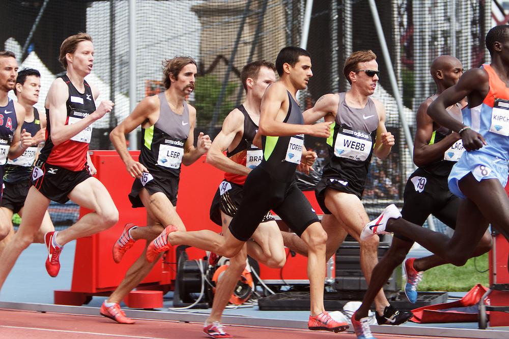 Samsung Diamond League adidas Grand Prix track & field; men's 1500 meters, Webb, Torrance, Leer,