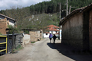 Greece, Macedonia, Gavros a small farming village neglected house