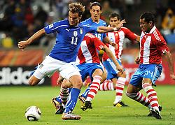 14.06.2010, Cape Town Stadium, Kapstadt, RSA, FIFA WM 2010, Italien vs Paraguay im Bild Alberto Gilardino (Italia)., EXPA Pictures © 2010, PhotoCredit: EXPA/ InsideFoto/ G. Perottino, ATTENTION! FOR AUSTRIA AND SLOVENIA ONLY!!! / SPORTIDA PHOTO AGENCY