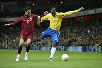 Photo: Marc Atkins.<br /> Brazil v Portugal. International Friendly. 06/02/2007.