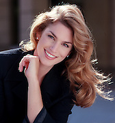 Supermodel Cindy Crawford, photographed on the backlot at Warner Bros. Studio in Burbank, CA.