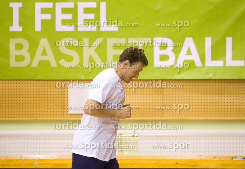 Matjaz Smodis during practice session of Slovenian National Basketball team during training camp for Eurobasket Lithuania 2011, on July 12, 2011, in Arena Vitranc, Kranjska Gora, Slovenia. (Photo by Vid Ponikvar / Sportida)