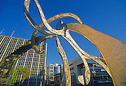 Sculpture in front of  the Law COurts Building<br /> Winnipeg<br /> Manitoba<br /> Canada