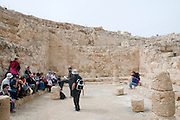 Israel, West Bank, Judaea, Herodion a castle fortress built by King Herod 20 B.C.E. Remains of the castle. The synagogue