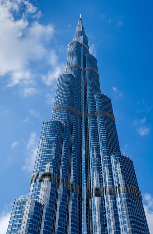 UNITED ARAB EMIRATES, DUBAI - CIRCA JANUARY 2017: Burj Khalifa in downtown Dubai.