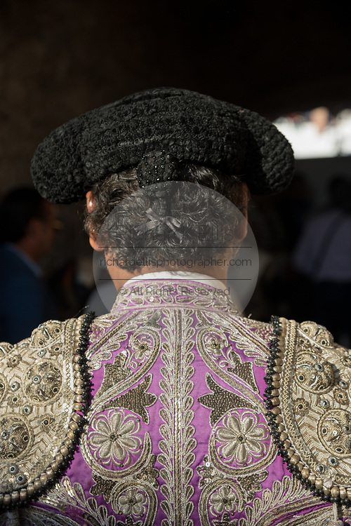 A Mexican Matador before entering the bull ring for the bullfights at the Plaza de Toros in San Miguel de Allende, Mexico.