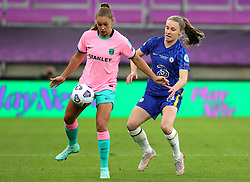 Chelsea's Guro Reiten (right) battles for the ball during the UEFA Women's Champions League final, at Gamla Ullevi, Gothenburg. Picture date: Sunday May 16, 2021.