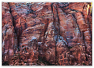 A sheer rock face shattered by Geological forces, Zion National Park, Utah, USA